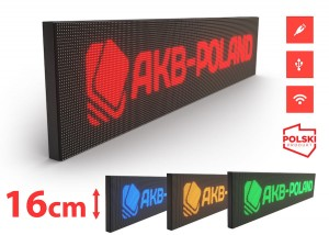 Reklama Panel LED HD P10 Mono Wysokość 16cm