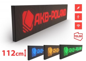 Reklama Panel LED HD P10 Mono Wysokość 112cm
