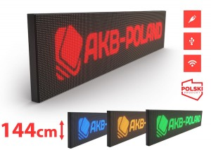 Reklama Panel LED HD P10 Mono Wysokość 144cm